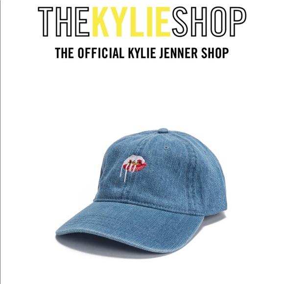 Kylie Jenner Lips Dad Hat - Denim. M 5b186e46baebf6a9903a9cd6 7ce8fe9b4165